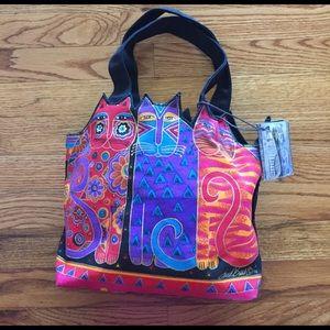 Laurel Burch fabric NWT cat bag