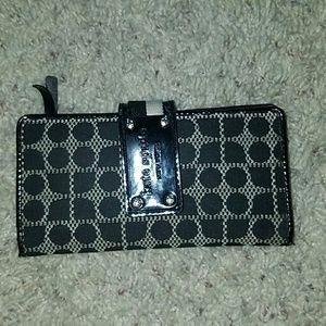 kate spade Handbags - Kate Spade black/tan wallet full size