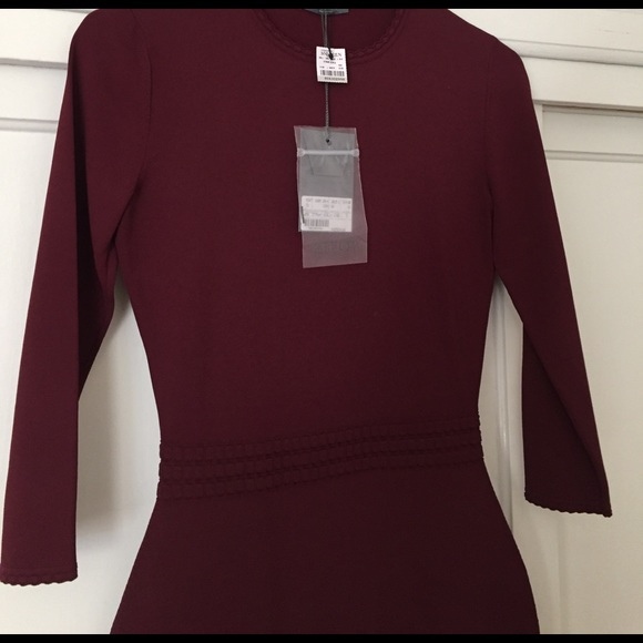 Alexander McQueen Dresses - Alexander McQueen burgundy dress