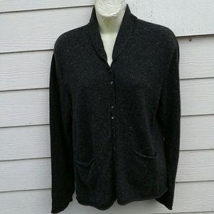 J. JILL  Sweaters - J. JILL GRAY 100%  CASHMERE CARDIGAN