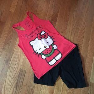 Sanrio Tops - Hello kitty and Capri leggings bundle