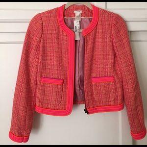 Plaid bouclé tweed jacket