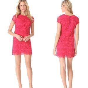Club Monaco Dresses & Skirts - Club Monaco Lace Overlay Bold back Zipper Dress