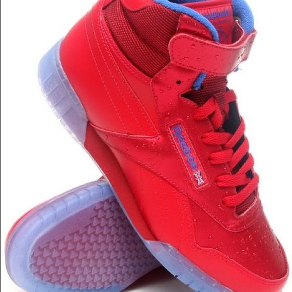 4cec1781a Reebok Shoes | Exofit Plus Hi Wet Raindrop Retro Redblu | Poshmark
