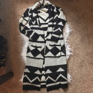 Forever 21 Sweaters - Tribal print maxi cardigan