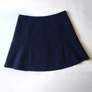 J.Crew Fluted Double Crepe Skirt in Navy