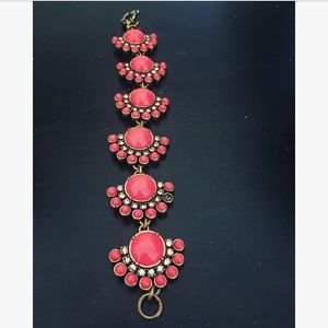 JCREW coral bracelet