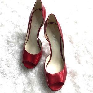 Via Spiga Shoes - Via Spiga sexy candy apple red peep toe pump 8.5