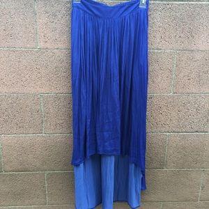 Zara Dresses & Skirts - Zara Basics Blue High Low Skirt