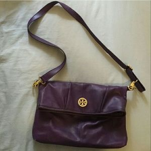 Tory Burch Handbags - Tory Burch Purple Messenger Bag