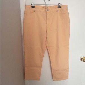 J. Jill Pants - NEW J. Jill Peach Authentic Fit Crop Pants Size 16