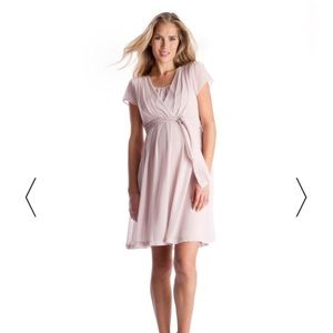 Seraphine Dresses & Skirts - Seraphine Blush Pink Maternity & Nursing Dress