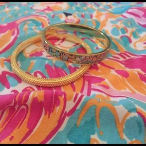 NWOT Lilly Pulitzer Gypsy Jungle Bangle set