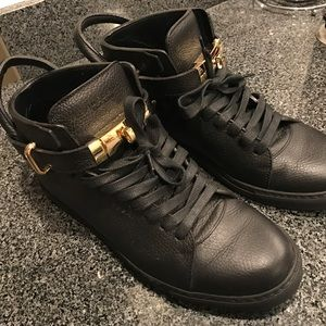 Buscemi Shoes - NWOT BLACK AND GOLD MENS 100MM BUSCEMI