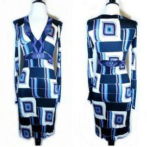 Custo Barcelona Dresses & Skirts - Custo Barcelona Abstract Print Midi Dress