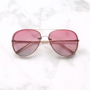 Style Link Miami Accessories - ▫️NEW▫️PINK TWO TONED AVIATOR SUNGLASSES