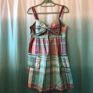 Ted Baker bow front plaid dress