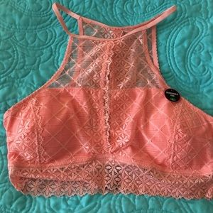 Rene Rofe Other - NWT Rene Rofe coral high neck bralette L