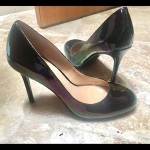 Banana Republic Shoes - *RARE* Banana Republic black iridescent heels