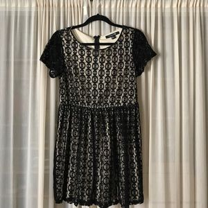 Forever 21 Dresses & Skirts - Mini Dress, Black and Cream