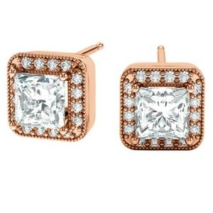 Beautiful rose gold earrings