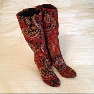 Diba Shoes - Beautifully patterned knee high boots