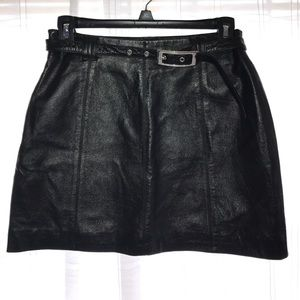 Maxima Dresses & Skirts - Sexy Leather Mini Skirt! Wilsons Leather Size 6