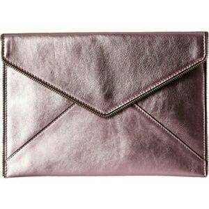Rebecca Minkoff Handbags - Rebecca Minkoff Leo Clutch Purse Frosted Pink