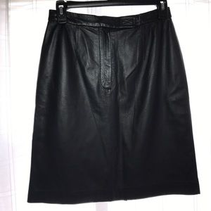 Apostrophe Dresses & Skirts - Apostrophe Leather Skirt size 4 Sexy or Business!