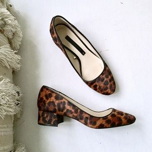Zara Shoes - ZARA ✔️ Leopard Calf Hair Low Heel Ballet Pump