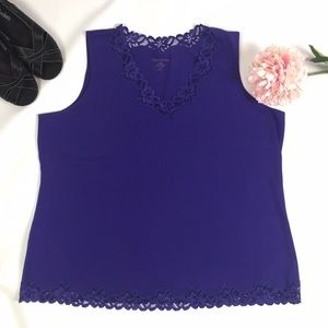 Coldwater Creek Tops - PURPLE COLDWATER CREEK LACE TANK SIZE 2X