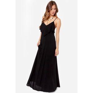 Lulus black maxi dress!