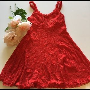 Other - Red lace fit and flare slip, nightie