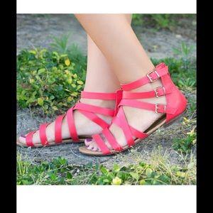 Breckelles Shoes - Brand New Fun Playful Grace Gladiator Sandal