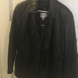 Jacqueline Ferrar Jackets & Blazers - Leather Insulated Jacket Like New