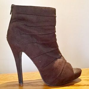 Delicious Shoes - Delicious brown soft faux suede boots. Size 6