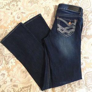 Twentyone black slim boot cut jeans 7/8R