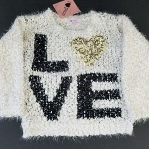 Pinc Premium Other - I Love  Pinc Girls Pullover Boucle Sweater 2T