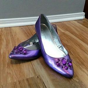 Sigerson Morrison Shoes - Purple flats