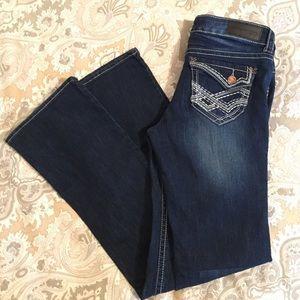 Twentyone black by rue21 slim boot cut jeans 7/8R