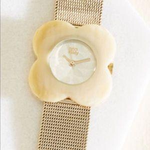 Orla Kiely hold and beige Poppy watch Nwt