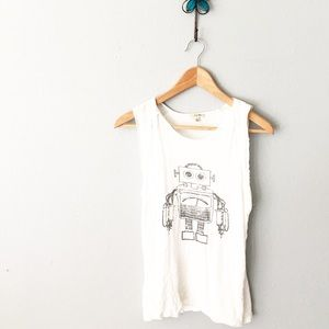Lily White Tops - Robot Tee