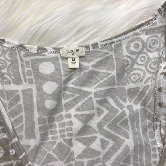 J. Crew Factory Tops - J. Crew Factory Sequin Shapes Grey Print Tank