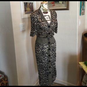 Stizzoli Dresses & Skirts - Leopard light Knit Stizzoli dress