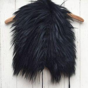 Ann Demeulemeester Accessories - Ann Demeulemeester rare black goat fur collar