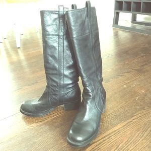 Sole Society Black Riding Boots