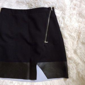 Club Monaco Dresses & Skirts - CLUB MONACO black zippered cut out mini skirt