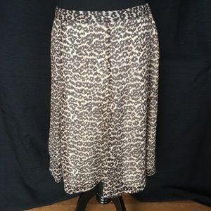 Jaclyn Smith Dresses & Skirts - Cheetah Pattern Midi Skirt