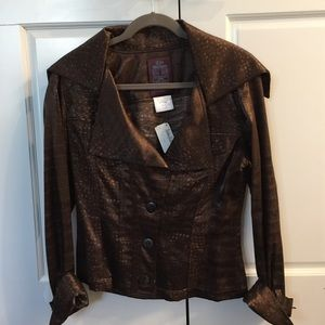 John Galliano Jackets & Blazers - John Galliano Blazer in Brown Subtle Print