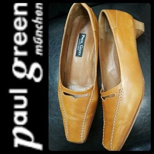 Paul Green Shoes - Paul Green Munchen Leather Slip On Loafers